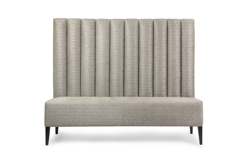 Fluted banquette banquet seating the sofa chair company The sofa company