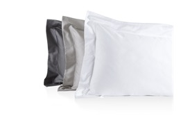 Finibus Embroidery Oxford Pillowcases Grey - standard