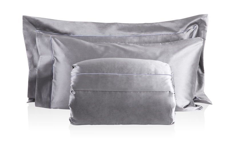 Finibus Grey             Embroidery  Duvet Set