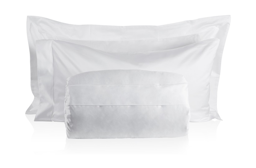 Finibus White Double           Embroidery Duvet Set