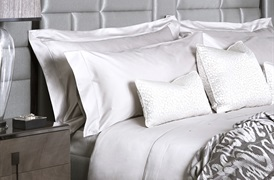 Finibus White Super King      Embroidery Duvet Set with Standard Pillowcases
