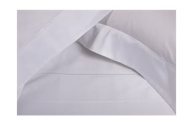 Finibus Embroidery Oxford Pillowcases White