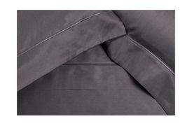 Finibus Embroidery Housewife Pillowcases Grey