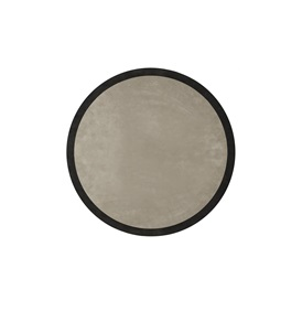 Round Rug D:320cm in Beige & Black