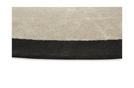 Round Rug D:320cm in Beige & Black