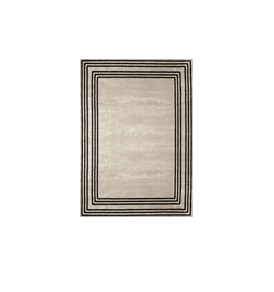 Vicos Border Rug 300x400cm in Black & Beige