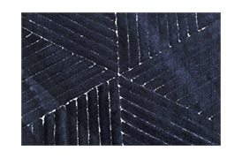 Manu Rug 250x350cm in Navy Blue & White