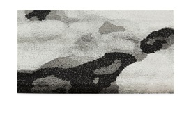 Mottle Rug 200x300cm in black, white and greys