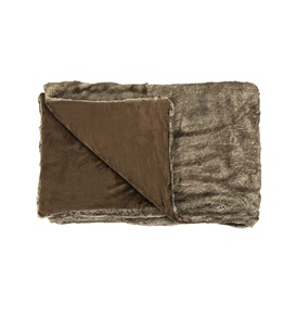 Coussin Caribou Faux Fur Throw