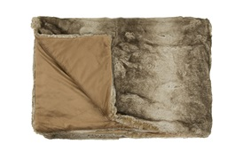 Coyote Faux Fur Throw