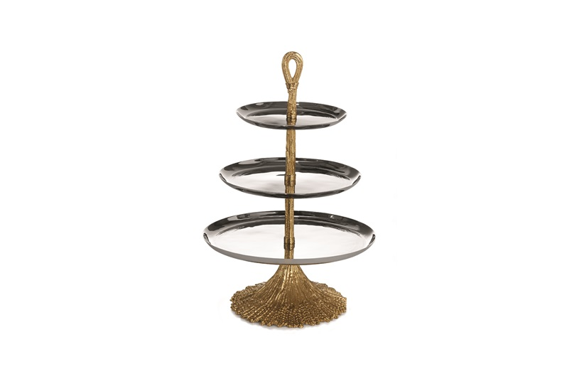 Wheat 3-Tier Etagere