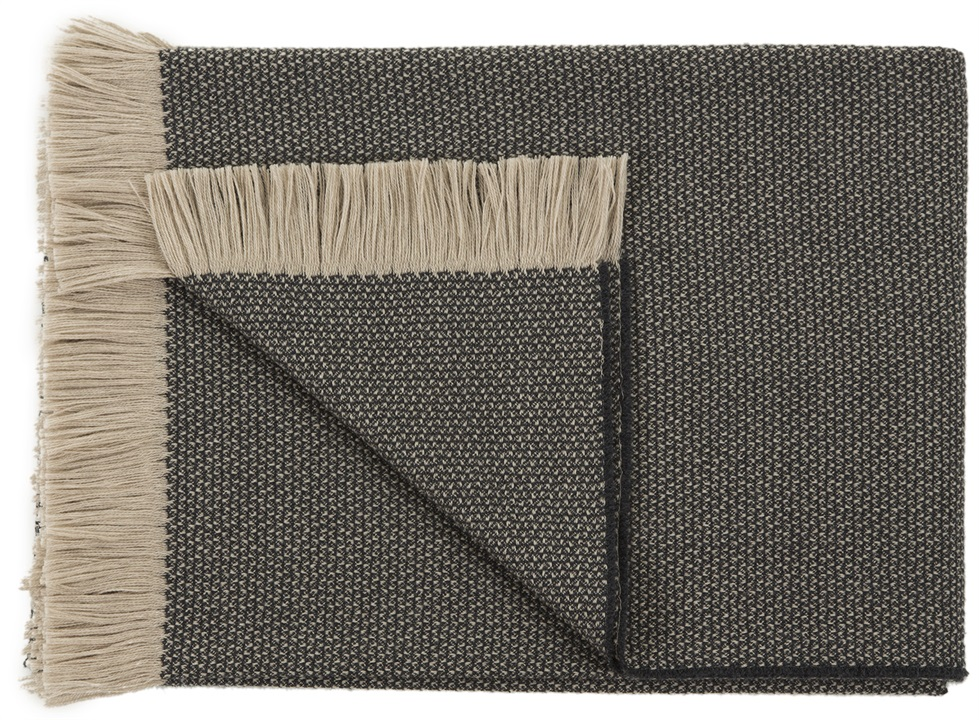Two Tone Beige Charcoal Throw Cushions Amp Throws The