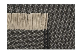 Two-Tone Beige/Charcoal Throw