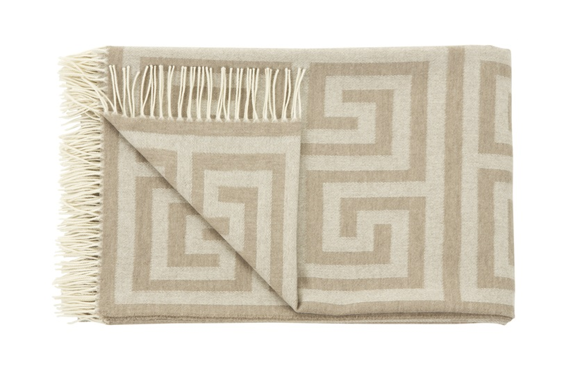 Beige Key Throw