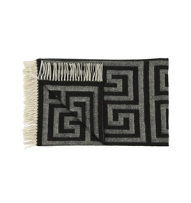 Black Geometric Throw