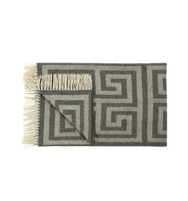 Grey Geometric Throw