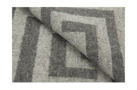 Grey Geometric Throw