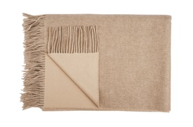 Reversible Cashmere Throw  Soft Otter/Beige