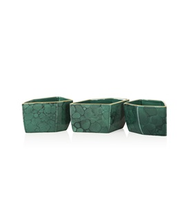 Malachite Bowls Set of 3