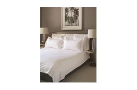 Piacenza Super King            Duvet Cover White