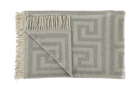 Light Grey Key Throw