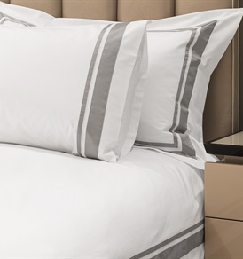 400tc Alessandro Duvet   Set   with a  Silver Grey Border