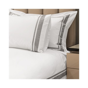 Alessandro Super King Duvet Set Silver Grey with Standard Pillowcases