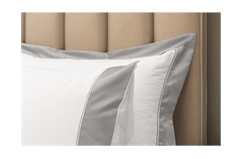 300tc Varenna Duvet Set  with a Silver Grey Border