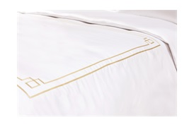 Peter Reed Hera Duvet Set Super King - Metallic Stone with Standard Pillowcases