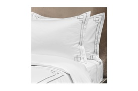 Peter Reed Hera Duvet Set Super King - Metallic Silver with Standard Pillowcases