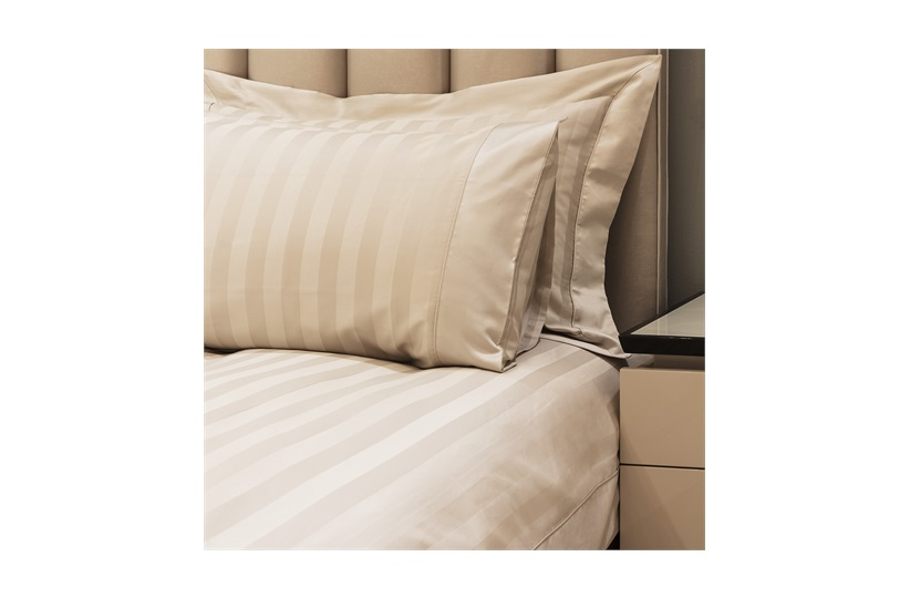 600tc Caily Duvet Set    in Stone Stripes