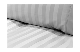 Caily Stripe King Duvet Set Silver Grey