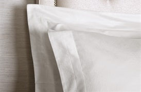 Tempace Paisley Oxford Pillowcases White - standard