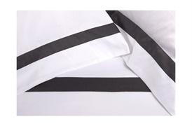 Finibus Border Housewife Pillowcases Grey