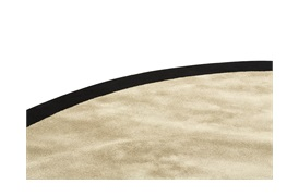 Barker Border Round Rug D:320 in Pebble Grey and Black