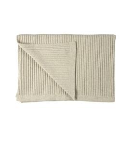 Wide Rib Angora & Superfine Merino Wool Throw