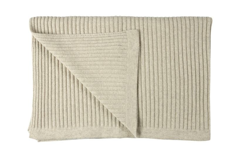 Wide Rib Angora & Superfine Merino Wool Throw