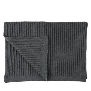 Wide Rib Wide Rib Pale Grey Throw