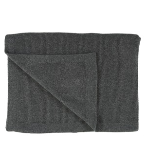 Chain Rib Grey Throw