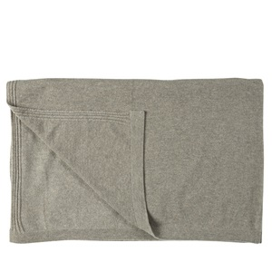 Jersey Cashmere Throw Mocha