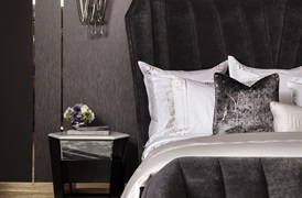Peter Reed 600tc Athena Duvet set in Metallic Silver