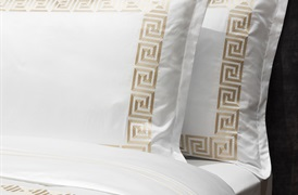 Peter Reed 600tc Athena Duvet set in Metallic Stone