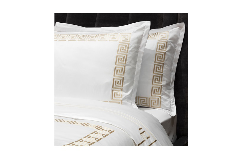 Peter Reed Athena Duvet Set Super King - Metallic Stone WITH STANDARD PILLOWCASES