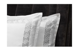 Peter Reed Athena Duvet Set Super King - Metallic Silver WITH STANDARD PILLOWCASES
