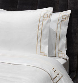 Peter Reed Hera Sheet Set Super King - Metallic Stone WITH STANDARD PILLOWCASES