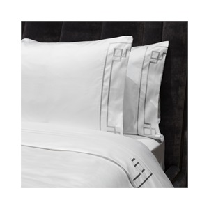 Peter Reed Hera Sheet Set Super King - Metallic Silver WITH STANDARD PILLOWCASES