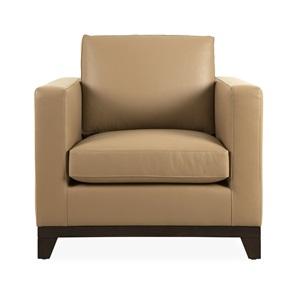 Balthus leather armchair