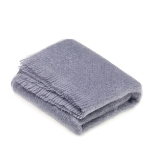Mohair Blue Dusk Throw