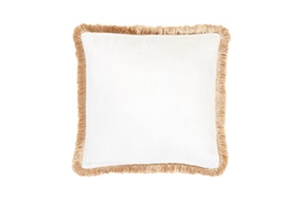 LUX FRINGE SILK CUSHION BY GINGERLILY