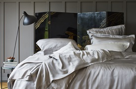 Silver Grey Silk Bed linen       by Gingerlily